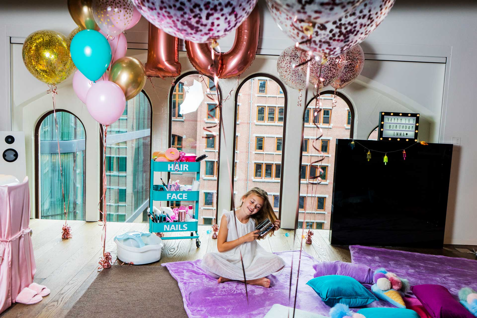 Sleepover Party in een luxe hotel!